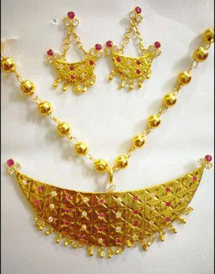 Assamese Traditional Jonbiri Jewellery for Women(#1521)-gallery-0