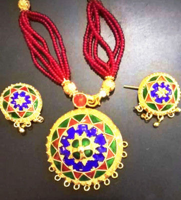 Traditional Japi Jewellery embellished with Precious Stones for Women(#1548)-gallery-0