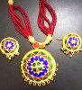 Traditional Japi Jewellery embellished with Precious Stones for Women(#1548) - Getkraft.com