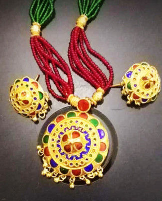 Axomia Traditional Japi Jewellery Set for Women(#1549)-gallery-0