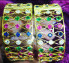 Enameled stone studded Assamese Jewellery Kharu - Bangles For Women(#1567)-thumb-1