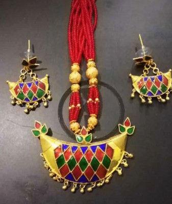 Jonbiri Assamese Designer Necklaces and Earrings for Women(#1574)-gallery-0