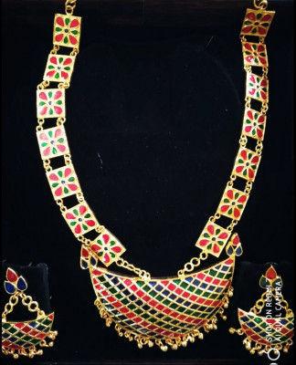 Beautiful Jonbiri Golpata Necklace Set for Women(#1576)-gallery-0