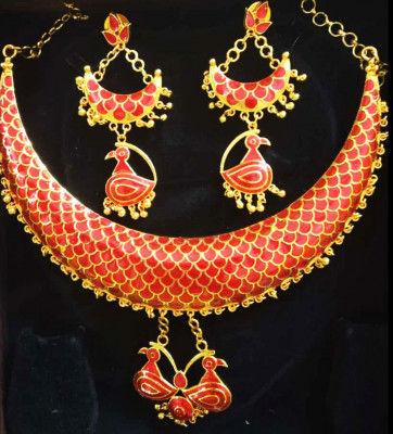 Lokaparo Jonbiri Haar and Earrings for Women(#1582)-gallery-0
