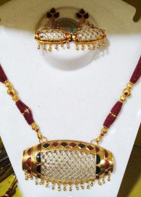Elegant Dholbiri Necklace set for Women(#1599)-gallery-0