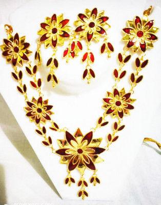 Thuka Phool Haar Set Assamese Traditional Designer Jewellery(#1609)-gallery-0