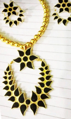 Xewali Phool Haar Set Assamese Traditional Designer Jewellery(#1610)-gallery-0