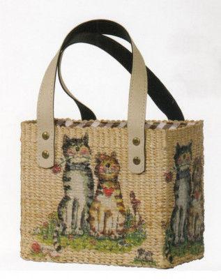 Printed Water Hyacinth Handbag for Women(#169)-gallery-0