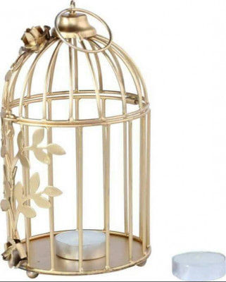 Creative Golden Floral Vine Birdcage for Home Decor(#1691)-gallery-0