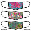 3 Layer Printed Protective Face Mask - Pack of 3 (Pink-Sea Green-Yellow Pink)(#1707)-thumb-1