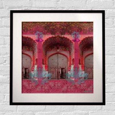 Pink Royal Door Design Framed Art Print(#1719)-gallery-0