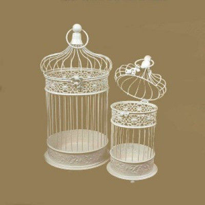 Dome shaped Hanging White Bird cage(#1728)-gallery-0