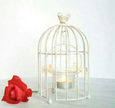 Tealight Stand Bird cage Candle stick Wedding Home Decor White(#1732)-gallery-0