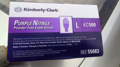 Kimberly Clark KC500 Purple Nitrile Powder Free Exam Gloves(#1733)-gallery-0