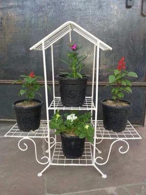 House shaped Planter Organizer Planter Rack Planter Shelves(#1754)-gallery-0