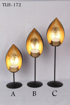 Set of 3 Eye shaped Tealight Candle Holder Stand Decorative Festival Decor(#1762)-gallery-0