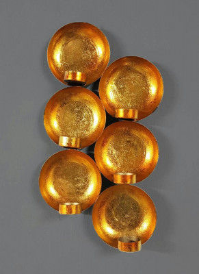 Bowl Shaped Wall Tealight Sconces Antique Design Home Office Festive Decoration(#1763)-gallery-0