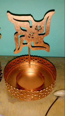 Swastik Tealight Holder Diwali Home Decor (Pack of 1)(#1764)-gallery-0