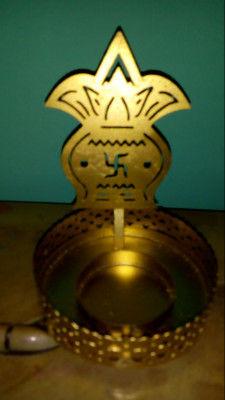 Swastika Aluminium Tealight Holder Diwali gift (Pack of 1)(#1765)-gallery-0