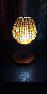 BAMBOO MADE TABLE LAMP(#1776)-gallery-0