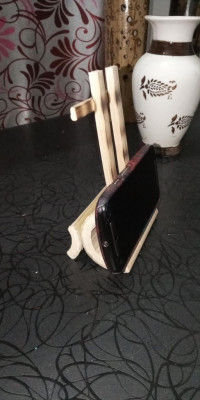 HAND MADE ECO FRIENDLY BAMBOO MOBILE STAND(#1778)-gallery-0