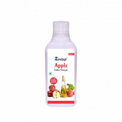 Zindagi Apple Cider Vinegar - Raw Unfiltered And Undiluted - 100 Pure Vinegar - 500 ml(#1793)-gallery-0