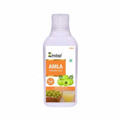 Zindagi Pure Amla Juice-100 Organic Natural Amla Ras-Sugarfree Health Drink - 500ml(#1794)-gallery-0