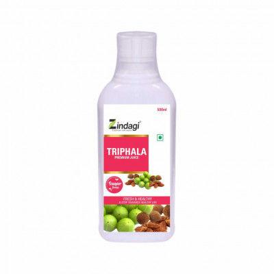 Zindagi Pure Triphala Juice - Natural Sugar-Free Concentrate Triphala Liquid Extract - 500ml(#1797)-gallery-0