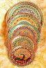 Stainless Steel Multicolor Designer Multipurpose Meenakari Pooja Thali Wholesale(#1873)-thumb-0