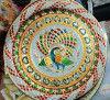 Stainless Steel Multicolor Designer Multipurpose Meenakari Pooja Thali Wholesale(#1873)-thumb-2