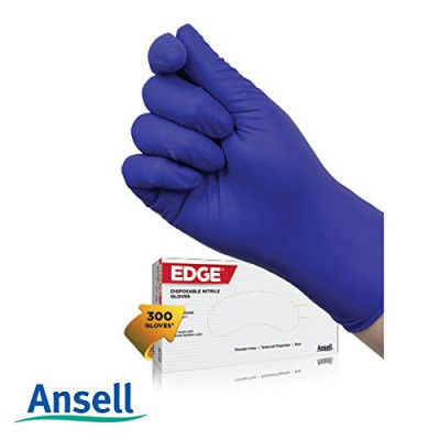 Ansell Edge 82-133 Disposable Nitrile Gloves (Pack of 300 Gloves)(#1890)-gallery-0