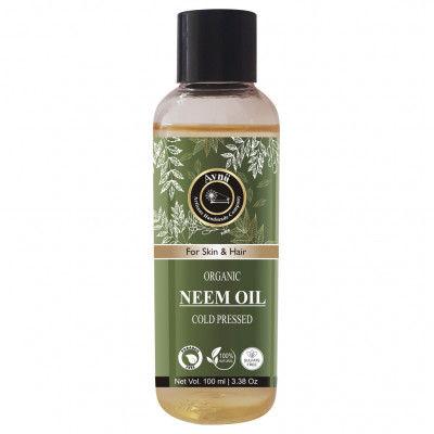 Avnii Organics 100 Pure Natural Neem Oil Ideal For Hair Skin Care Nails Scalp Nourishment 100ml(#1908)-gallery-0