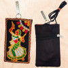 Avnii Organics Multi color Mobile Pouch (Mobile Cover) Rajasthani Style beautiful hand crafted Velvet with Mirror work cover for Women(#1923)-thumb-2