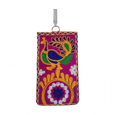 Avnii organics Beautiful Mirror Handcrafted Embroidered Hand Bag Ethenic Rajasthani Gujarati Bag for Girls women(#1924)-gallery-0