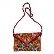 Avnii Organics Rajasthani Gujrati Jaipuri Embroidery Mirror work slings bags for women girls(#1925) - Getkraft.com