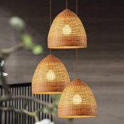 Basket Style Ceiling Bamboo Pendant Light Lamp(#1937) - Getkraft.com