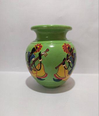 Rajasthani Musician Terracotta Pot(#1938)-gallery-0