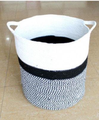 White gray cotton dori basket(#1972)-gallery-0