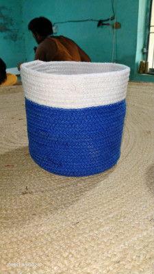 Cotton Dori basket white blue(#1976)-gallery-0