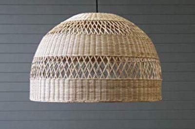 Rattan Bell Pendant Light (Lamp)(#2015)-gallery-0