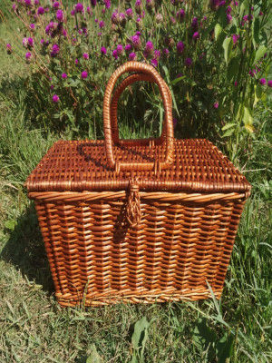 Wicker Picnic basket Storage basket(#2053)-gallery-0