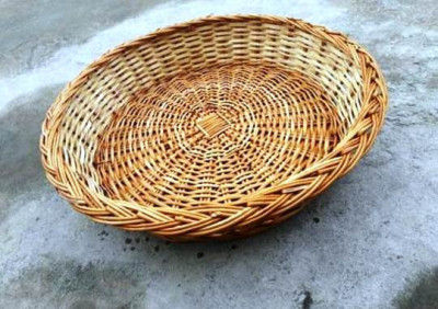 Wicker Round Hamper Tray Normal Quality(#2055)-gallery-0