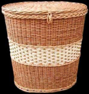 Wicker Cylindrical Storage Basket(#2060)-gallery-0