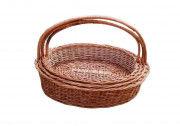 Wicker Hanging Basket Set of Three(#2063) - Getkraft.com