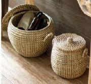 Sabai Grass Planter fine finished basket Set(#2073) - Getkraft.com