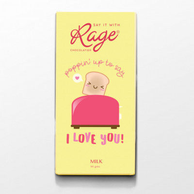 Rage Popin Up to Say I Love You Chocolate Bar 90 Grams(#2098)-gallery-0