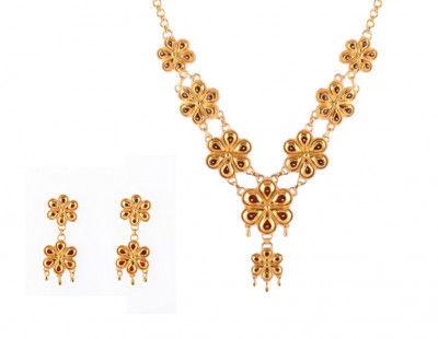 Assamese Traditional Jewellery Set Xewali Phool Haar for Women(#211)-gallery-0