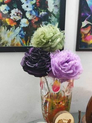 Handicraft cloth vase(#2145)-gallery-0