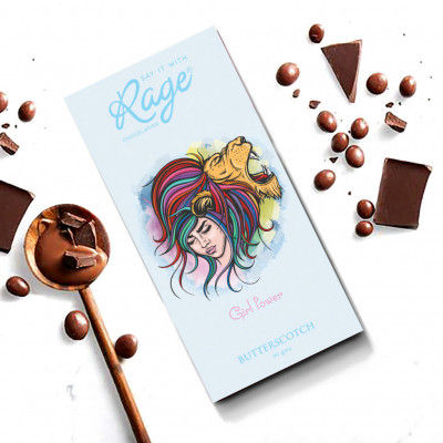 Rage Chocolatier Womens Day Special Girl Power Butterscotch - 90 Grams(#2152)-gallery-0