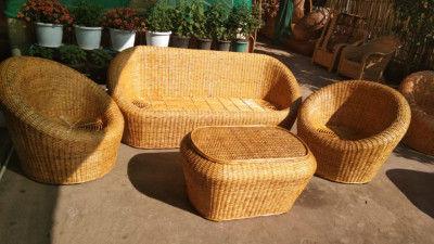 Cane Sofa set Design 18(#2162)-gallery-0